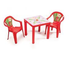 PARADISO Tavolo per Bambini, Colore: Rosso