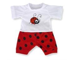 Costruisci il tuo Orsi armadio da 15 pollici Clothes Fit Corporatura Orso Bug di PJ Pigiama (Red)