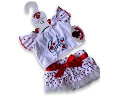 Build Your Clothes armadio da 15 pollici Orsetti Costruire vestiti Fit ragazze lunare dellorsacchiotto Orso Outfit (Red)
