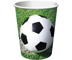 Creative Convertting- Bicchiere Carta 266 ml, Calcio Fanatic Soccer, Multicolore, 8C377966
