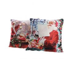 Kaemingk Cuscino Babbo Natale A LED Luce Bianco Caldo Articolo da Regalo, Multicolore, 8719152079162