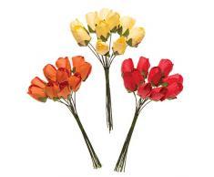 Baker Ross Mini tulipani di carta (confezione da 30) - Decorazioni creative per la primavera e Pasqua