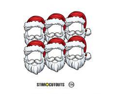 Star Cutouts SMP368 - Set di 6 maschere da Babbo Natale, ideali per feste di Natale in ufficio, stanze ed eventi, multicolore