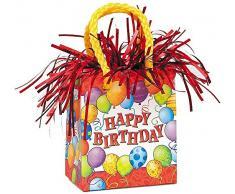 Unique Party 49044 - Peso per Palloncino a Forma di Busta Regalo per Compleanno con Palloncini