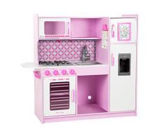 Melissa & Doug 14002 Set da Gioco di Cucina per Cuochi di Finzione, Rosa/Bianco