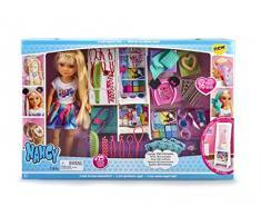 Nancy 700015131 - Bambola con Armadio, Specchio e Parrucchiere per Bambini dai 3 Anni