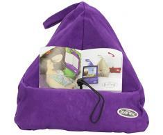 The Book Seat, Leggio morbido per libri, tablet, e-book reader, Viola (Purple/Aubergine)