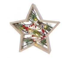 Kaemingk Stella LED A Batteria E Decorazioni Natale Luci, Multicolore, 8719152941025