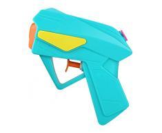 Idena 40424 Power Pistola ad acqua in plastica, dimensioni compatte, perfetta per le vacanze, in spiaggia o in piscina, ca. 10 cm, colori assortiti