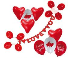 Riethmüller 450005 - Set di Ghirlanda I Love You e 20 Palloncini