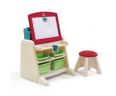 Step2 - Scrivania ribaltabile con lavagnetta e sgabello, per bambini
