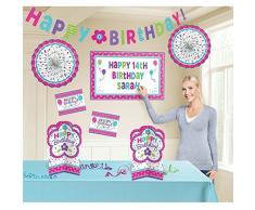 Amscan 241142 buon compleanno personalizzabile decorazione kit