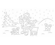URSUS 18420070 Forme Tavolo luci Fili Grano Babbo Natale Bianco, 115 G/mq, 5 Foglia, 14 x 27 cm