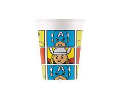 Marvel Avengers- Bicchieri di Carta, 200 ml, 8 Pezzi, Verde, 78226