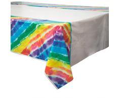 Tovaglia di plastica, colore arcobaleno, 2,13 x 1,37 m