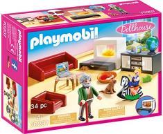 Playmobil Dollhouse 70207 - Soggiorno Con Camino, dai 4 anni