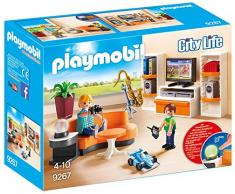 Playmobil 9267 - Soggiorno con Mobile Tv, Multicolore
