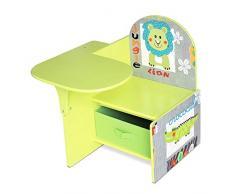 Lalaloom- Sweet Seat Scrivania in Legno con Sedile e Cassetto, Bambini, Colore Verde, 1300041