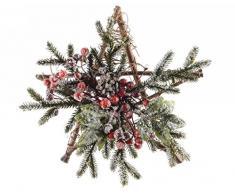 Kaemingk Stella Decorata con Bacche E Pino Natale Ghirlande E Frange, Multicolore, 8718532327015