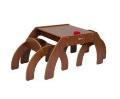 Little Helper FunStation - Tavolino per Bambini con 2 sedie, Colore: Marrone