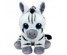 Ty- Beanie Babies 28Cm Stripes Zebra Animale Bosco Peluches Giocattolo 834, Multicolore, 8421963096