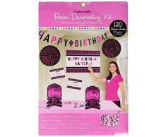 Amscan 241145 buon compleanno personalizzabile decorazione kit