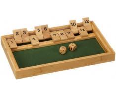 Philos 3271 Green Games - Shut The Box, gioco a 12 dadi, in legno di bambù (lingua tedesca)