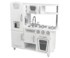 KidKraft 53208 Cucina Giocattolo in Legno per Bambini Vintage con Telefonino Incluso - Bianco