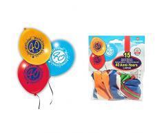 15 Palloncini Large in Lattice 40ESIMO Compleanno