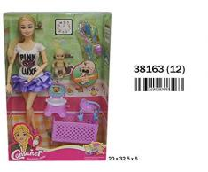 Tritton 38163 - Bambola Mamma con Bebè, Culla e Accessori, 20 x 3 x 6 cm, Multicolore