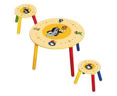 Bino 83410 - Tavolo per bambini con due sgabelli