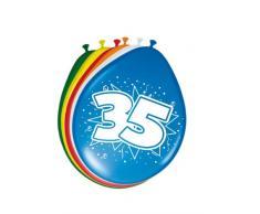 Palloncini 35 anni 30 cm - 8 pezzi
