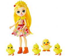 Enchantimals- Dinah La Paperetta Bambola con Famiglia di 4 Paperelle, Giocattolo per Bambini 4+ Anni, Multicolore, GJX45