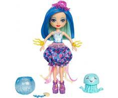 Enchantimals- Bambola Jessa la Medusa Cambia Colore e Cucciolo del Mare, Blue, FKV57