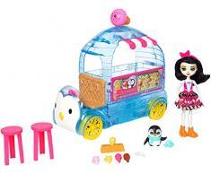 Enchantimals- Camioncino dei Gelati, Playset con Un Veicolo XL, Bambola, Cucciolo e Accessori, FKY58