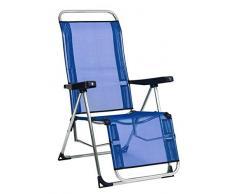 Safari-480ALF16 87486 - Sdraio Relax Fibrelino, Colore: Blu, Multicolore
