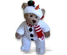 Costruisci il tuo Orsi armadio 15 pollici dellorso vestiti adatti a costruire Orso Pupazzo di neve con il cappello Onesie