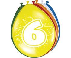 Palloncino colorato Palloncini Numero 6 Compleanno 8 St. Decorazione Palloncini Feste