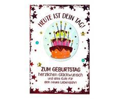 Depesche 3003.039 - Biglietto di Auguri per Compleanno, con Decorazione