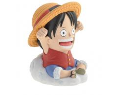 Plastoy- One Piece: Lufy Mini Salvadanaio, Multicolore, 80042