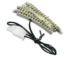Rokuhan 97022 - Weiche elettrico collega R127-26 ° e rettilineo, 55 millimetri (biancheria da letto taglio)