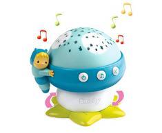 Smoby 110118 Cotoons - Luce Notturna per Bambini, a Forma di Fungo, con Effetti Musicali, Colore: Blu