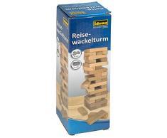 Idena 40206 - Gioco di abilità con 54 mattoncini in legno, ca. 4,8 x 4,8 x 14,4 cm, marrone chiaro