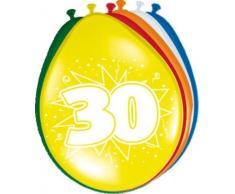 Palloncini 30 anni - 8 pezzi