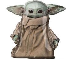 Amscan 4224201 - Palloncino gonfiabile standard Star Wars Mandalorian The Child, ideale come regalo di compleanno, decorazione per elio, feste a tema, carnevale
