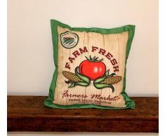 A Zig Zag Cuscino Arredo Farm Fresh Pomodoro E Pannocchie
