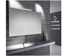 Bathman Srl Emma - specchio reversibile da bagno filo lucido 100x70 cm con lampada led 5w -