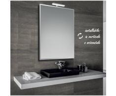 Bathman Srl Marina - specchio bisellato reversibile da bagno 60x80 cm con lampada led 6w -
