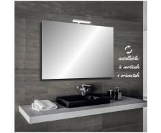 Bathman Srl Irina - specchio reversibile da bagno filo lucido 90x60 cm con lampada led 5w -