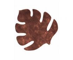 Set di 4 tovagliette a forma di foglia tropicale di colore marrone